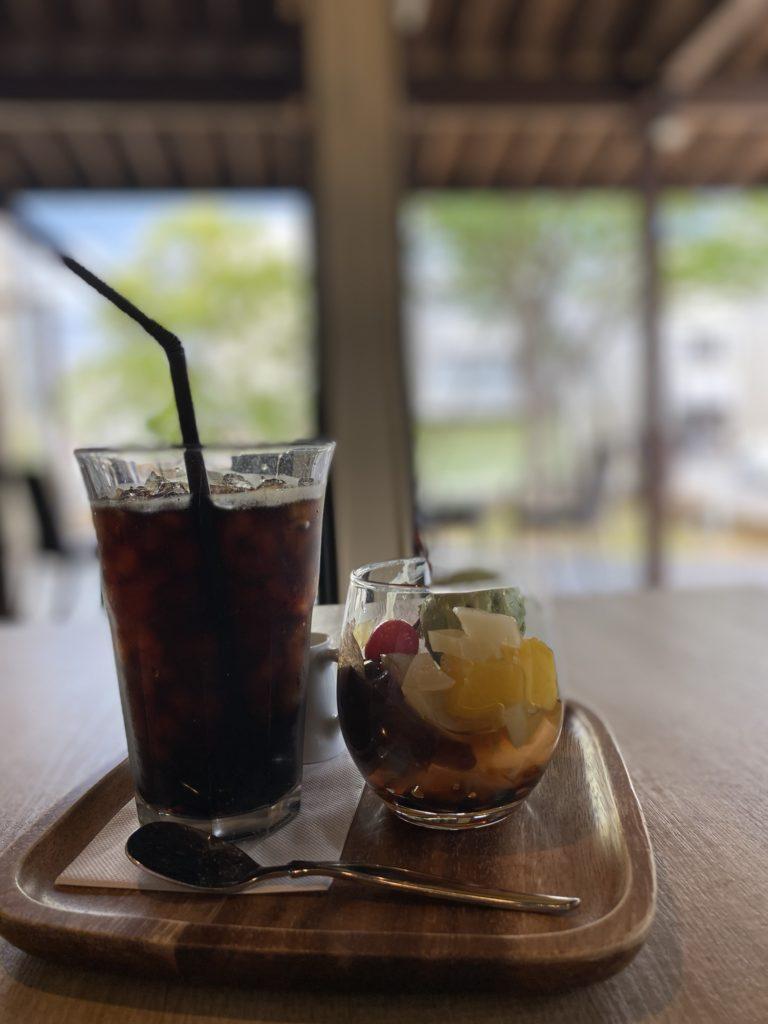 ☆抹茶アイスのプチあんみつセット