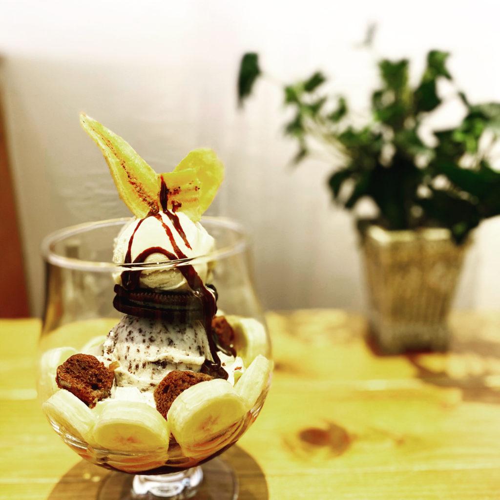 ☆黒のパフェ~チョコとバナナ…チョコソースをお好みでどうぞ